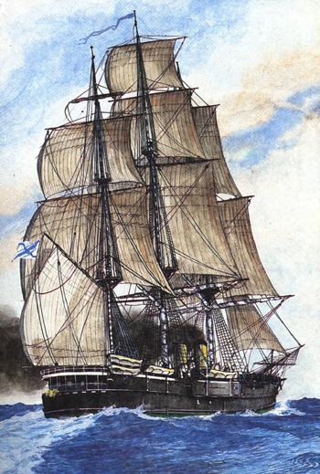 парусных кораблей.