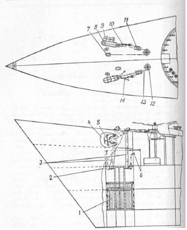 Якорное устройство надводного