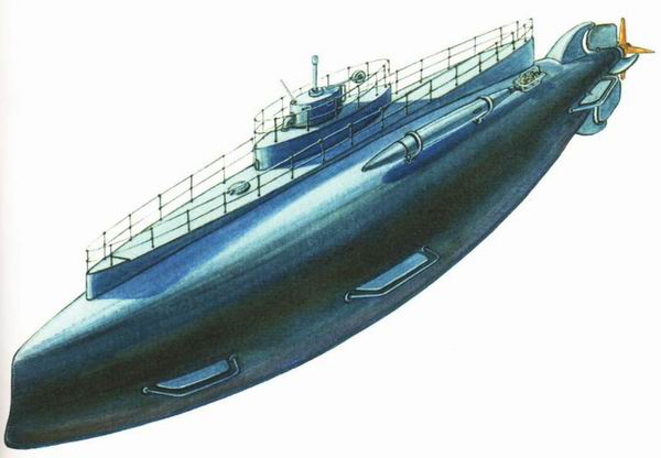 Большая ракетная подводная лодка проекта ав