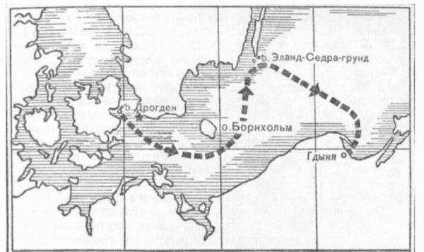 Схема маршрута гонки № 1 по