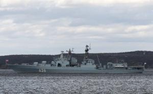 """Большой противолодочный корабль Северного флота """"Вице-адмирал Кулаков"""" возвратился в главную базу СФ Североморск"""