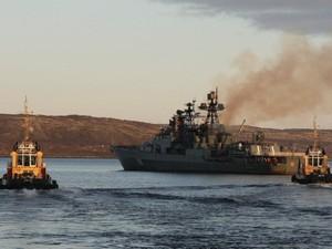 """Большой противолодочный корабль """"Североморск"""" Северного флота завершает подготовку к антипиратской миссии в Аденском заливе"""