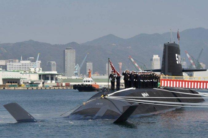 """Ввод в строй подлодки """"Сейрю"""" (класс """"Сорю""""), ВМС Японии"""