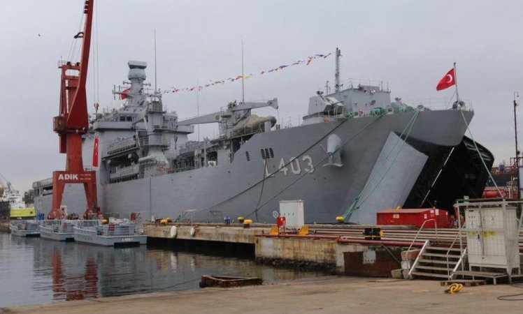 "Танкодесантный корабль ""Шанкактар"" (Sancaktar, класс LST), Турция"