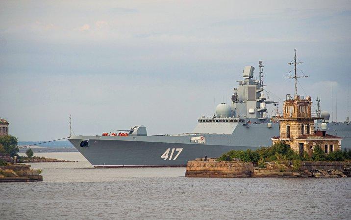 "Frigate ""Admiral Gorshkov"" arrives in Kronstadt"