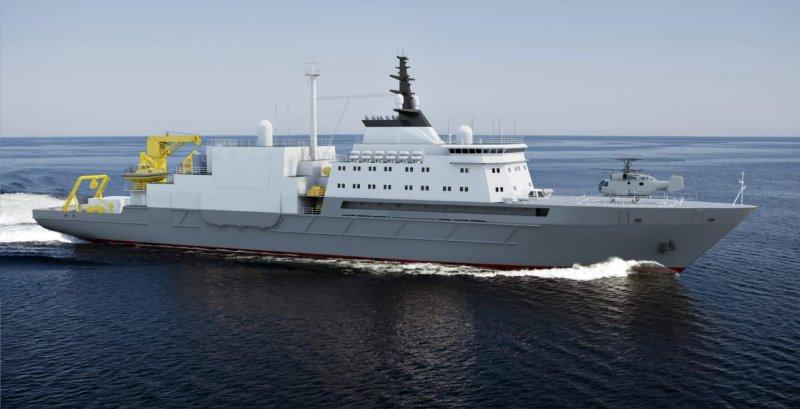3D-модель серийного спасателя подводных лодок проекта 21300 с ГВК-300